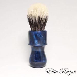 wet-shave-brush-handle-neo-resinate-blue-and-black-swirl-24-26mm-bob-quinn-elite-razor-1