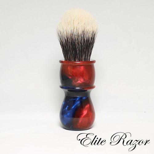 wet-shave-brush-handle-neo-resinate-blue-and-red-24-26mm-2-bob-quinn-elite-razor-1