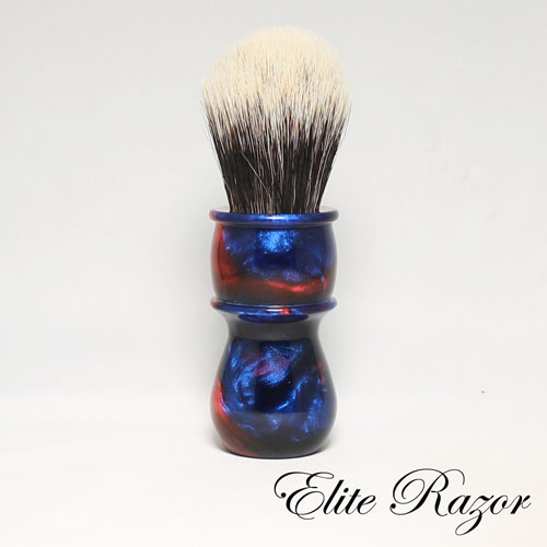 Wet Shave Brush Handle Neo Resinate Blue And