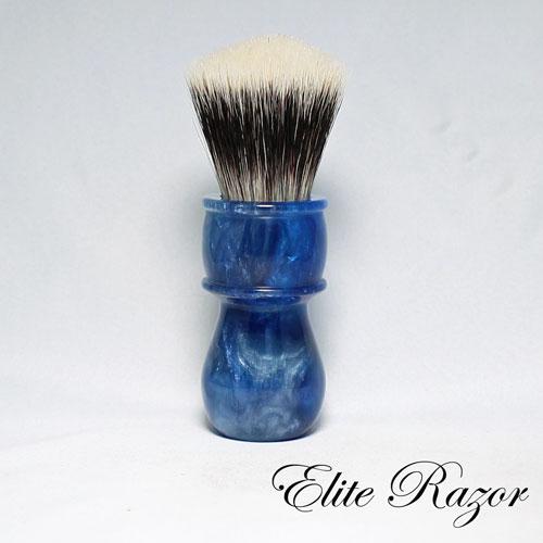 wet-shave-brush-handle-neo-resinate-blue-and-silver-24-26mm-1-bob-quinn-elite-razor-1