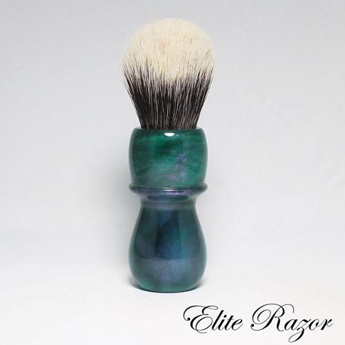 wet-shave-brush-handle-neo-resinate-green-blue-and-purple-24-26mm-bob-quinn-elite-razor-1