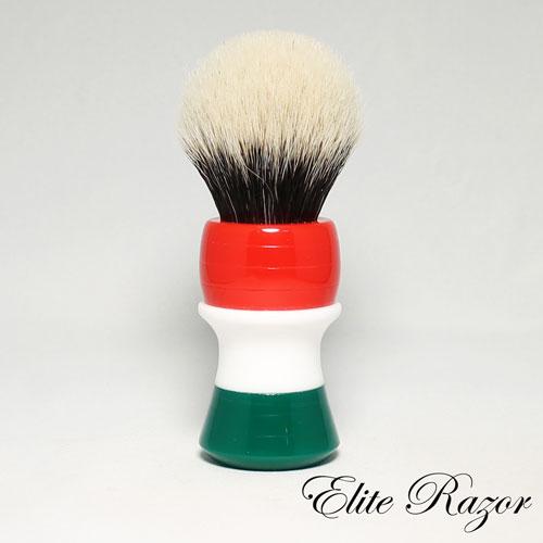 wet-shave-brush-handle-neo-resinate-italian-flag-24-26mm-bob-quinn-elite-razor-1